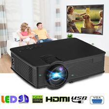 7000 Lumens LED Projector Multimedia 3D 1080P Movie Home Theater HDMI USB AV VGA