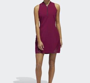 NWD adidas Womens 3-STRIPES SPORT DRESS Power Berry Size S
