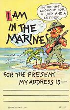 WWII MARINE POST CARD - MINT