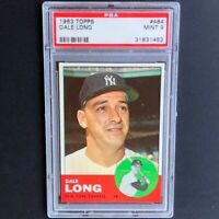 1963 Topps Dale Long #484 💥 PSA Mint 9 💥 Highest Graded - 1 of Only 7! Yankees