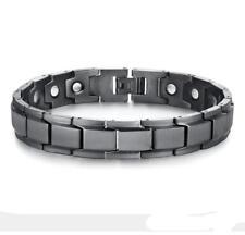 Matte Black Stainless Steel Bracelet Fashion Men's Magnetic Energy Chain Bangle