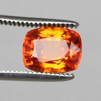 Padparadscha Sapphire Natural Cut 7.25 Ct. Cushion Orange Ceylon Loose Gemstone