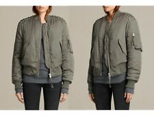 NWT $450! ALLSAINTS Sage Green BREE LACED BOMBER JACKET- X-Small!
