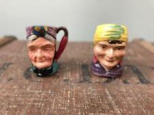 More details for vintage mini toby jugs cooper clayton sterling fortune teller & granny 2.5