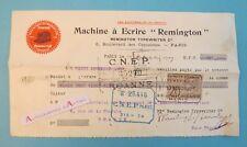 Machine à écrire REMINGTON 1909 ROANNE Pensionnat Immaculée Conception facture