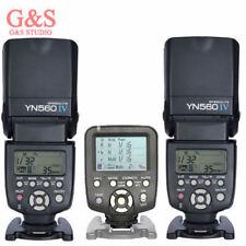 Yongnuo YN560TX LCD Wireless Flash Controller +2pcs YN560 IV Flash kit For Canon