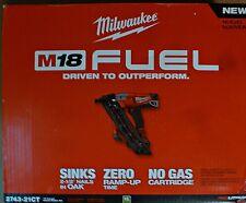 MILWAUKEE M18 FUEL 18V 2743-21CT 15 GAUGE BRUSHLESS ANGLED FINISH NAILER KIT NEW