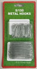 CHRISTMAS Pack 150 Tree Hooks Bauble Hanger SILVER