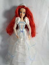 Disney Princess Ariel Little Mermaid Articulated Doll w/ Wedding Dress / Vail