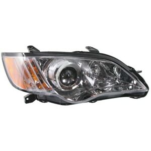 Headlight For 2008-2009 Subaru Legacy Right Clear Lens With Bulb