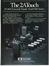 Icom Hand Held System 2A Touch IC-2A/2AT Amateur Radio  Vintage 1982 Print Ad A8