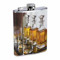 Chicago D4 Flask 8oz Stainless Steel Hip Blackhawks Whiskey Rum Scotch