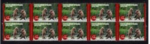 GRIZZLY BEAR STRIP OF 10 MINT E/S VIGNETTE STAMPS 3