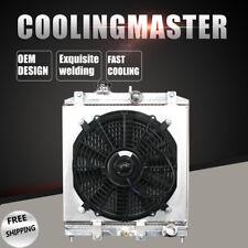 Aluminum Radiator+12''Fan Shroud For Honda Civic del SolAcura EL L4 92-00 MT