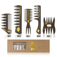 Vintage Salon Comb Hairdressing Shower Wide Tooth Detangler Hair Brush Comb 34US