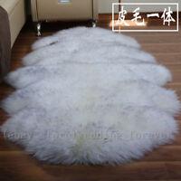 100% Genuine Sheepskin Rug Lambskin Long Wool Carpet Sofa Pad Mat Floor Area Rug