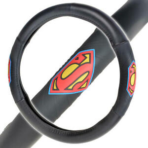 Official Superman Steering Wheel Cover Leather Ergonomic Skin Universal Size