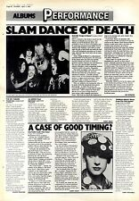 "11/4/87pg30 Album Review & Picture, Slayer ""reign Of Blood"""