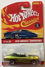 Hot Wheels CLASSICS 1970 CHEVELLE CONVERTIBLE * Antifreeze * Fast Ship * 12A