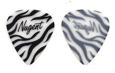 Vintage Ted Nugent White Zebra Stripe Guitar Pick - 1995 Spirit Of The Wild Tour