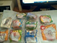 MCDONALDS HAPPY MEAL LOT OF 10 TOYS -NEW IN WRAPPERS 1994-1998 AND 1 OF 2001