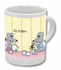 Uli Stein Espressotasse Maus Mäuse zu stark Espresso Tasse aus Porzellan - NEU