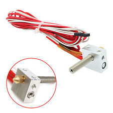0.4mm Nozzle Heater Block Hot End Kit Fr MK8 Extruder Prusa i3 3D Printer 1.75mm