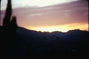 Photo slide 1978 California San Francisco valley Sunset Mountain scene Beauty