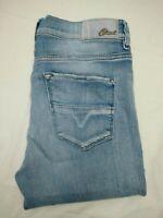 Womens Diesel HI-VY 0881T Stretch Super Slim Straight Blue Jeans | W28 L30