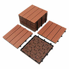 10Pack Interlocking Decking Flooring Of Wood & Plastic Composites Deck Tiles