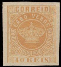 """CAPE VERDE 13a (Mi12B) - Portuguese Crown """"1881 Imperforate"""" (pa74971)"""