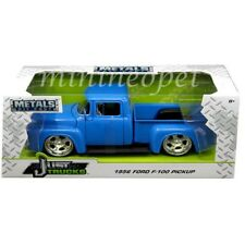 JADA JUST TRUCKS 99044 1956 56 FORD F-100 PICK UP TRUCK 1/24 DIECAST MODEL BLUE