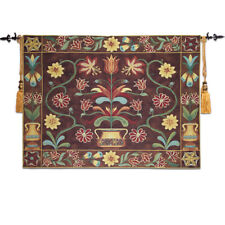 "Medieval Old Tapestry Wall Hanging, Cotton 100% Hannover  55""x39"""