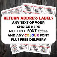 Printed Self Adhesive Sticky Personalised Address Return Sender Post Labels P&P