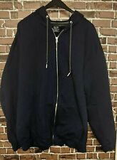 FTL Fruit of the Loom Blue HOODIE Zip Up Sweatshirt Men's Size 3XL XXXL