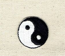 "Small 1"" Yin/Yang Taoism/Martial Arts/Karate Iron on Applique/Embroidered Patch"