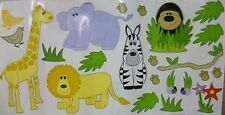 Jungle Theme Wall Stickers. Decorate Child's Bedroom/Nursey/Playroom 45 Inc BNIB