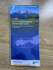 travel MAP Switzerland West-Austria Route road routekaart ANWB travel info