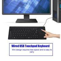 Mini teclado ultrafino con cable USB con panel táctil para computadora