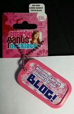 """NO ONE CARES ABOUT YOUR BLOG  SMARTY PANTS DOG TAG 18"""" NECKLACE NEW"""