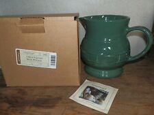NEW LONGABERGER Woven Traditions Green IVY 2 Quart Qt PITCHER NIB