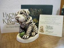 Harmony Kingdom Fuss Pot Shar-peis Dog Uk Made Marble Resin Box Figurine Sgn