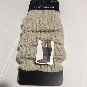 Steve Madden Leg Warmers Dark beige Speckled Knit Boot Women's NEW