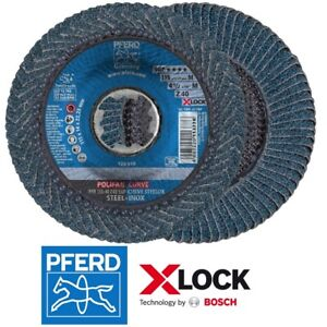 10 PFERD-POLIFAN X-LOCK Fächerschleifscheiben CURVE 115-125mm PFR SGP STEELOX