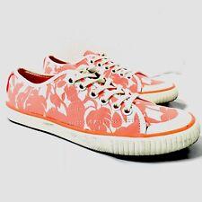 Kate Spade Florence Broadhurst Sneakers Shoes Low Top White Orange Women's 6.5