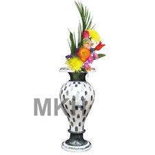 Marble Flower Vase Inlay Stones Home Decorative Plant Planter Vintage Mosiac Art