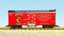 USA Trains G Scale 16463 U.S. REEFER CAR Moose Head Red Salmon – Red/Blue