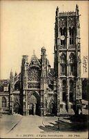 Dieppe France carte postale ~ 1910 L'Eglise St. Jaques Gesamtansicht aussen