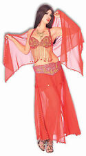 BELLY DANCER harem red gypsy fortune teller sexy womens dance halloween costume