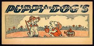 """UNCOLORED 1930's? """"Puppy Dog's Paint and Story Book"""" (2793)"""